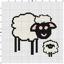 Beginner's Sheep Counted Cross Stitch Sewing Kit